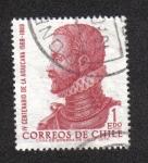 Stamps Chile -  Alonso de Ercilla y Zuniga
