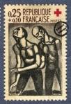 Sellos de Europa - Francia -  Georges-Henri Rouault - El ciego a veces confortó al guía