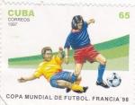 Sellos de America - Cuba -  copa mundial de futbol Francia-98