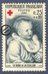Sellos de Europa - Francia -  Pierre Auguste Renoir - Bebé con cuchara