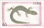 Sellos de America - Cuba -  lagartos endémicos