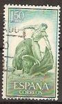 Sellos de Europa - España -  ESPAÑA SEGUNDO CENTENARIO USD Nº 1263 (0) 1,5P VERDE AZUL TAUROMAQUIA