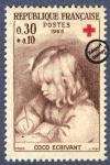 Sellos de Europa - Francia -  Pierre Auguste Renoir - Coco escribiendo