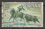 Stamps Spain -  ESPAÑA SEGUNDO CENTENARIO USD Nº 1264 (0) 1,8P VERDE AMARILLO Y VERDE TAUROMAQUIA