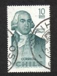 Sellos de America - Chile -   Ambrosio O'Higgins