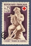 Sellos de Europa - Francia -  Ivore - Museo De Dieppe - Flautista