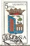 Stamps Spain -  España Correos / Salamanca / 5 pecetas