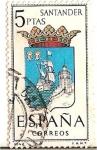 Sellos de Europa - España -  España Correos / Santander / 5 pecetas