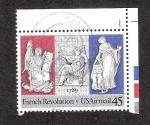 Sellos de America - Estados Unidos -  Bicentenario de la Revolución Francesa