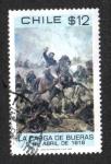 Sellos de America - Chile -  La Carga de Burreas 5 de abril de 1818