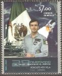 Sellos de America - México -  25  ANIVERSARIO  DEL  PRIMER  MEXICANO  EN  EL  ESPACIO,  RODOLFO  NERI  VELA.