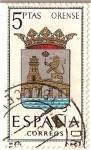 Stamps Spain -  España Correos / Orense / 5 pecetas