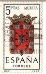 Sellos de Europa - España -  España Correos / Murcia / 5 pecetas