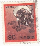 Sellos de Asia - Japón -  personaje