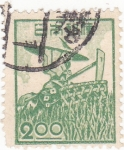 Stamps Japan -  campesina