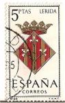 Stamps Spain -  España Correos / Lerida / 5 pecetas