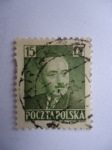 Stamps Poland -  Presidente: Boleslaw Bierut (1892-1956)