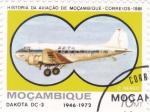 Stamps Mozambique -  DAKOTA DC-3 -historia de la aviación de Mozambique