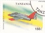 Stamps Tanzania -  C-101 Aviojet-avión de combate