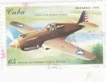 Sellos de America - Cuba -  CURTISS P-40 (EEUU)-avión de combate
