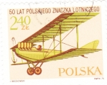 Sellos de Europa - Polonia -  -avión de combate