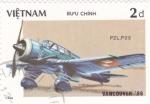 Stamps Vietnam -  PZL.P23-avión de combate