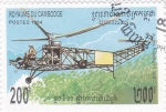 Sellos de Asia - Camboya -  avión antiguo