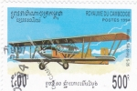 Stamps Cambodia -  avión antiguo