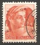 Stamps Italy -   828 - Obra de Miguel Angel