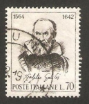 Sellos de Europa - Italia -   902 - IV centº del nacimiento de Galileo Galilei