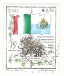 Stamps Italy -  Convenio de amistad ente Italia y San Marino