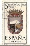 Stamps Spain -  España Correos / Fernando poo / 5 pecetas