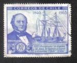 Stamps Chile -  125 aniversario de llegada al país de barcos a vapor y a ruedas