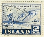 Stamps Europe - Iceland -  Ruta a pie