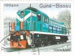 Sellos de Africa - Guinea Bissau -  máquina de tren