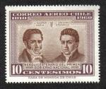 Sellos de America - Chile -  Manuel Rodriguez & Juan Mackenna