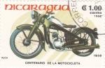 Stamps Nicaragua -   PUCH 1938-centenario de la motocicleta