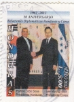 Sellos de America - Honduras -  50 aniversario relaciones diplomáticas Honduras- Corea