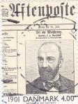 Stamps Denmark -  titular prensa