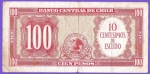 monedas del Mundo : America : Chile :  BANCO CENTRAL DE CHILE - CIEN PESOS - CONDOR. ( REVERSO )