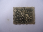 Stamps Portugal -  Caballero Medieval.