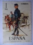 Stamps Spain -  Ed:2423 - Oficial de Administraciñon Militar- Nº36