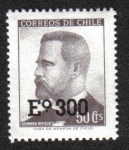 Stamps Chile -  German Riesco (1854-1916)