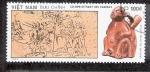 Sellos de Asia - Vietnam -  Cristóbal Colón ofreciendo regalos a los indígenas