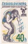 Stamps Czechoslovakia -  lanzamiento de martillo- Praga-78