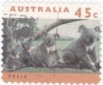 Sellos de Oceania - Australia -  koalas