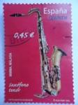 Stamps Spain -  Ed:4550 - Instrumentos Musicales - Saxófono Tenot.
