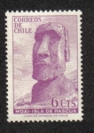 Stamps of the world : Chile :  Moai Isla de Pascua