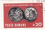 Stamps Romania -  monedas