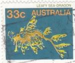Sellos de Oceania - Australia -  pez dragón de mar